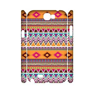 Customized Samsung Galaxy Note2 N7100 Cover, Personalized Samsung Galaxy Note2 N7100 3D Case - Ethnic Tribal Indian