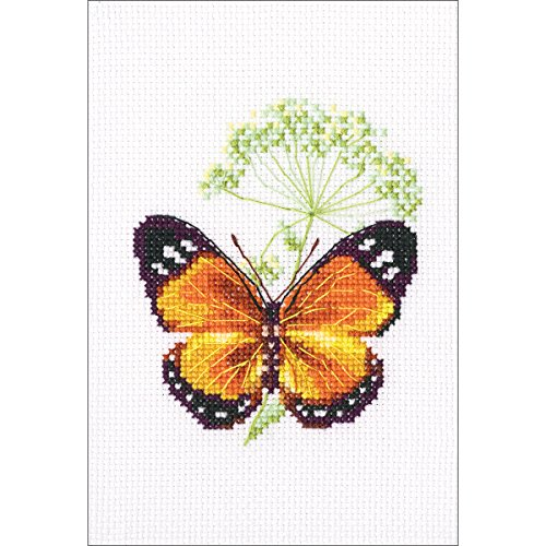 "Caraway & Butterfly Counted Cross Stitch Kit-3.25""X3.75"" 16"