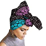 African Head Wraps 45''x36'' African Wax Print Head Scarf Tie for Women