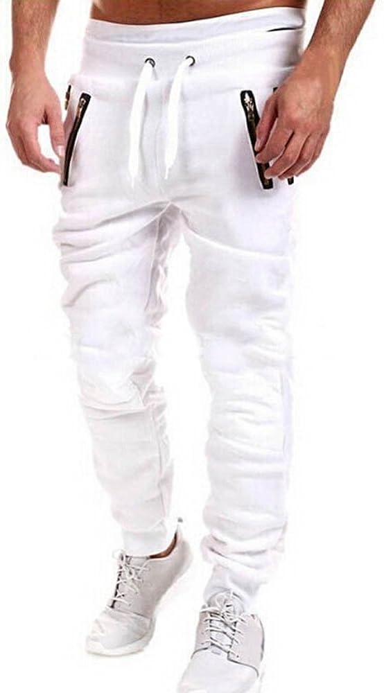 juqilu Hombres Deporte Pantalones Chandal Bottoms Hip Hop ...