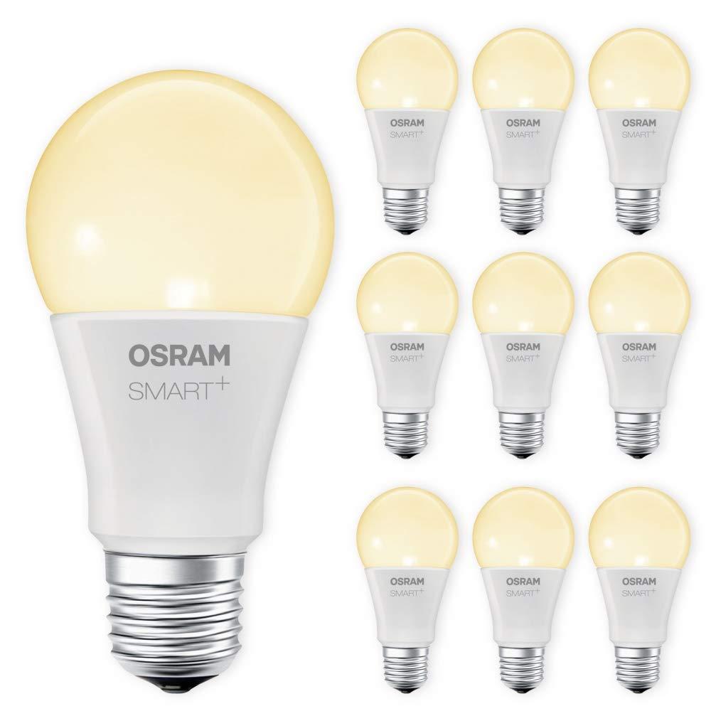 OSRAM SMART+ LED E27 Lampe 2700K warmweiß dimmbar Lightify Echo Alexa kompatibel Auswahl 10er Set