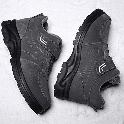 男性の冬の寒シューズファッションショートアンクルブーツのための人工皮革暖かいアウトドアシューズのための女性のレースアップのためのスノーブーツ (色 : 赤, サイズ : 25 CM)