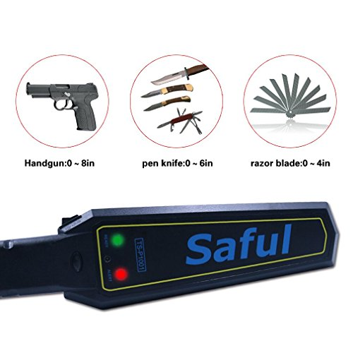 SAFEBAO Portable Security Hand Held Metal Detector Wand Scanner Audio Alert + LED Indication … by SAFEBAO (Image #3)