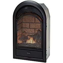 Duluth Forge Dual Fuel Vent Free Fireplace Insert - 15,000 BTU, T-Stat, Brick Liner by Duluth Forge