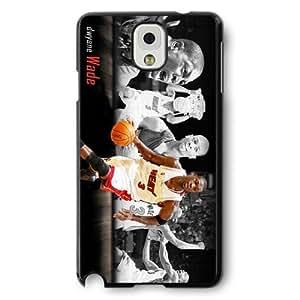 Onelee(TM) - Customized Black Hard Plastic Samsung Galaxy Note 3 Case, NBA Superstar Miami Heat Dwyane Wade Samsung Galaxy Note 3 Case