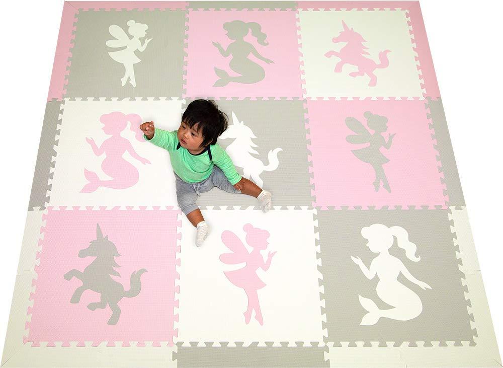 Amazon.com: softtiles niños y bebé espuma alfombra de juego ...