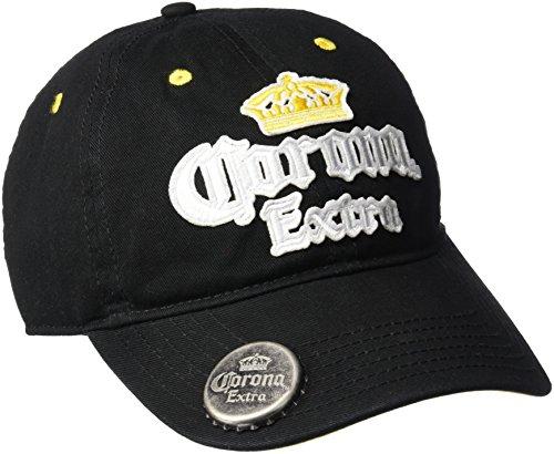 corona-mens-curve-adjustable-baseball-cap-black-one-size