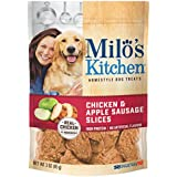 Milo'S Kitchen Chicken & Apple Sausage Slices Dog Treats, 3-Ounce (Pack Of 12)