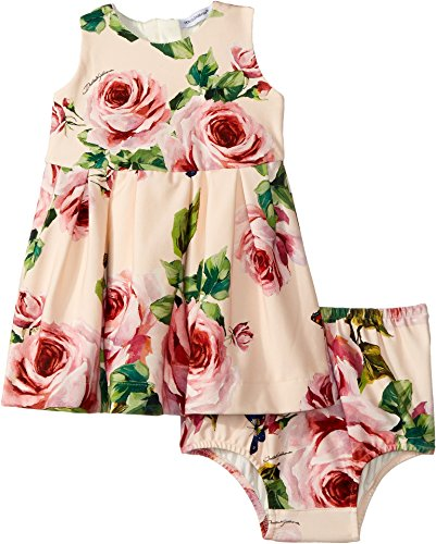Dolce & Gabbana Kids Baby Girl's Sleeveless Dress Set (Infant) Rose Print 6-9 by Dolce & Gabbana (Image #1)