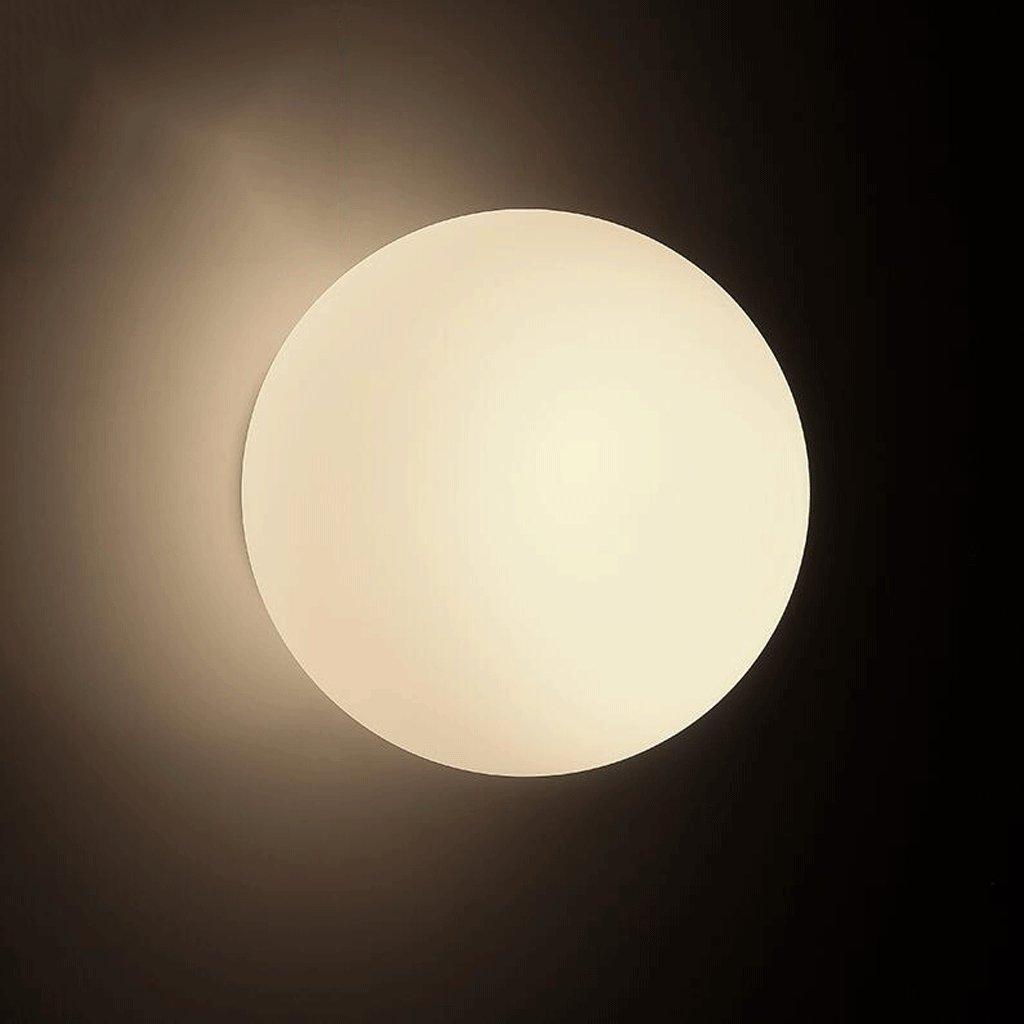 WYQLZ Bedroom Nordic Modern Simple Bedroom WYQLZ Lámpara de Pared Balcón Escaleras Aisle Personality LED Ball Bedside Luces Decorativas,Decorativa de la lámpara de Pared (Tamaño : Diameter 14cm) 6ac600