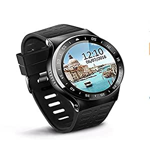 3G S99A Smart Watch 1.33 inch Screen RAM 512MB ROM 8GB MTK6580 Android 5.1 Wristwatch Bluetooth 4.0 GPS Heart Rate Fitness Tracker Smartwatch for Android Phone (black)