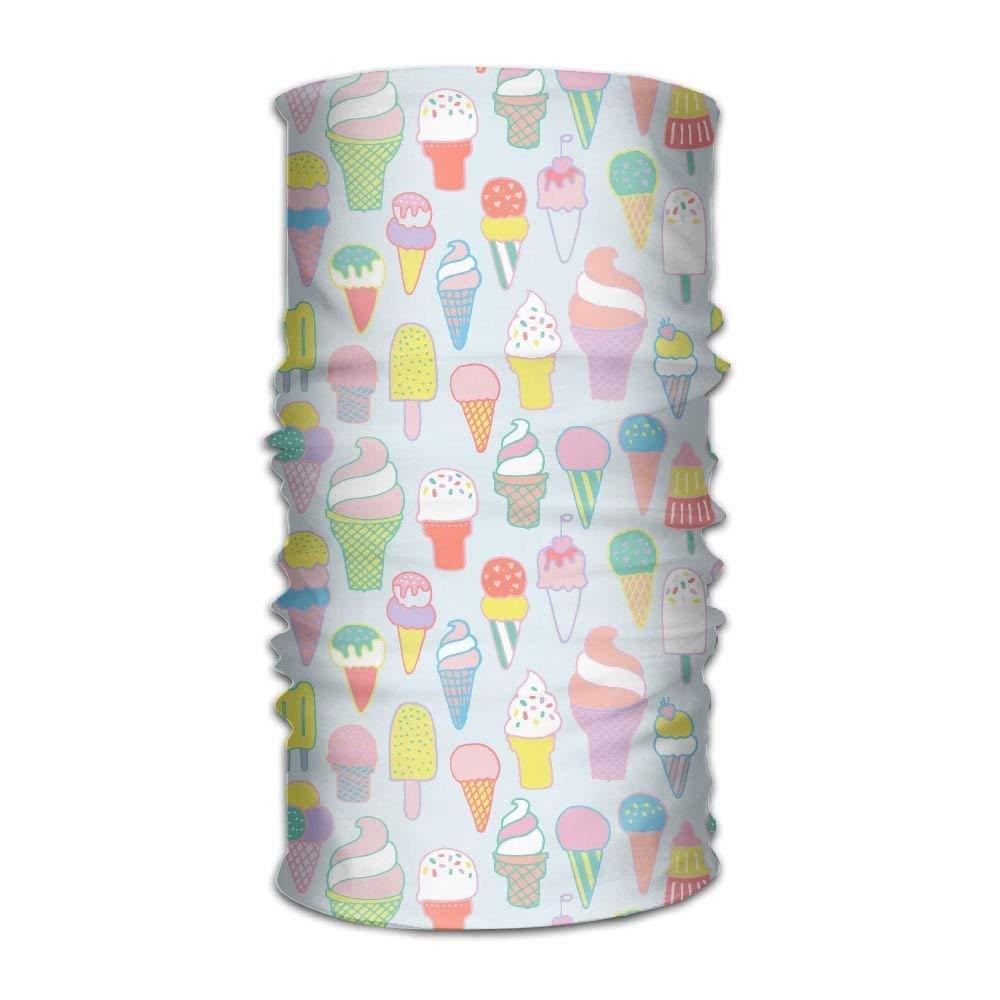 ERCGY Colorful Sweet Ice Cream Outdoor Scarf Cycling Coverchief Headbands Seamless Magic Kerchief