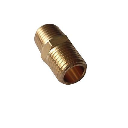 "NEW Plumbing Brass BSP Threaded fittings NIPPLE 1//4/"" Close BSP Taper"