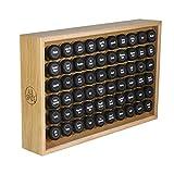 AllSpice Wooden Spice Rack, Includes 60 4oz Jars- Oak
