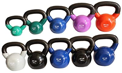 Ader Vinyl Kettle Bell Choice of 5,8,10,12,15,18,20,25,30,35,40,45,50lbs by Ader Sporting Goods