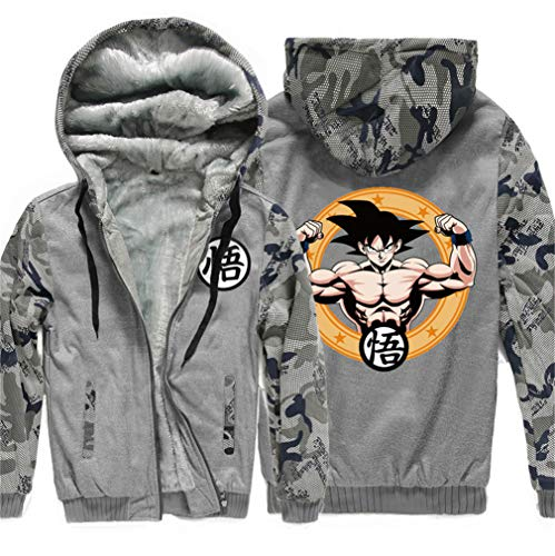 Dragon Hoodie shirt Cosplay Sweat Cosstars Épais Veste Velours Plus Hiver 15 Hommes Sweat Ball Anime Capuche À dqn1Hx6t