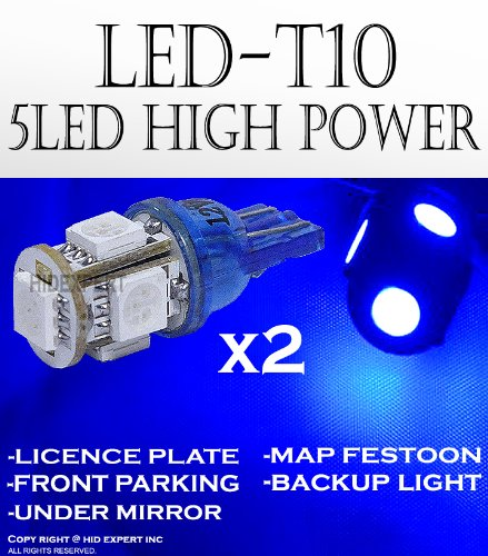 ABL x2 Hyper Blue T10 168 920 921 5LED Super Bright 5-SMD LED Bulbs