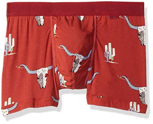 BN3TH Men's Classics Trunk Brief Premium Underwear with Pouch, Desert Rose Terra Cotta, Medium ()