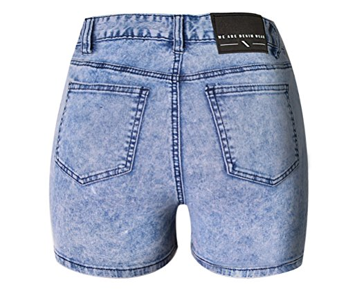 Jeans Skinny Taille Slim Bleu en FuweiEncore Shorts Sexy Chic Grande Haute Taille 1ZqERgxXw