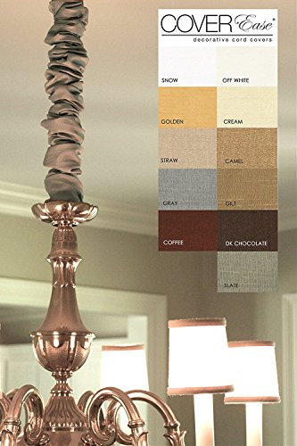 Silk Chandelier (Dk Chocolate 4ft Chandelier Chain Cover Cover Faux Silk BrownDiscount Shipping with 2+ Covers)