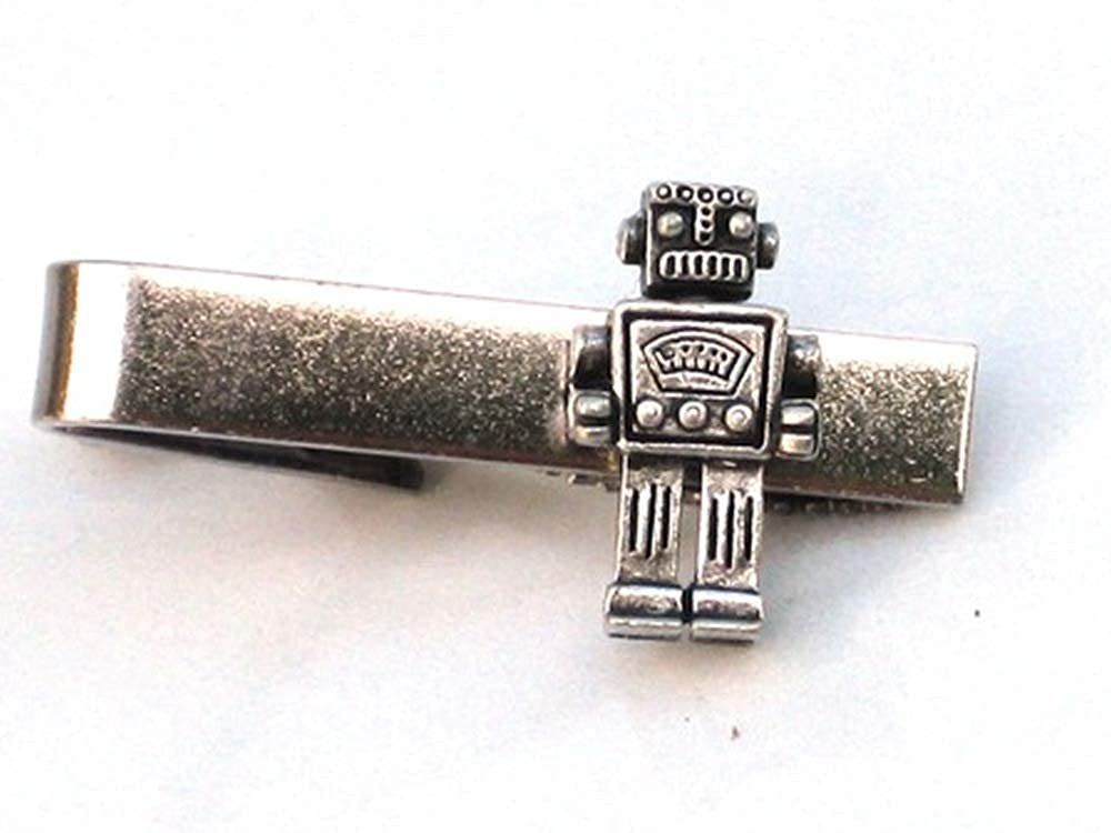 Steampunk Señor Robot Hombre Corbata Bar Clip Pin Geekery como ...