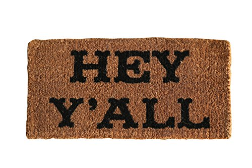 Natural Coir Hey Yall Doormat