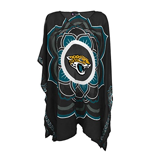 NFL Jacksonville Jaguars Womens NFL Caftan, black, One Size Fits Most