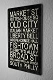 Tin Sign Deco City Philadelphia Attractions 8X12""