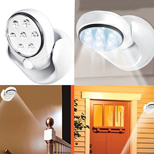 Adjustable LED Motion Light Activated Sensor Indoor Outdoor Cordless Patio Wall Brake Caliper Accents