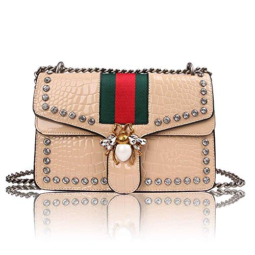 Women Evening Crossbody Bag, Designer Shoulder Bag for Women, Fashion Bee  Crossbody Bag Handbags with Chain