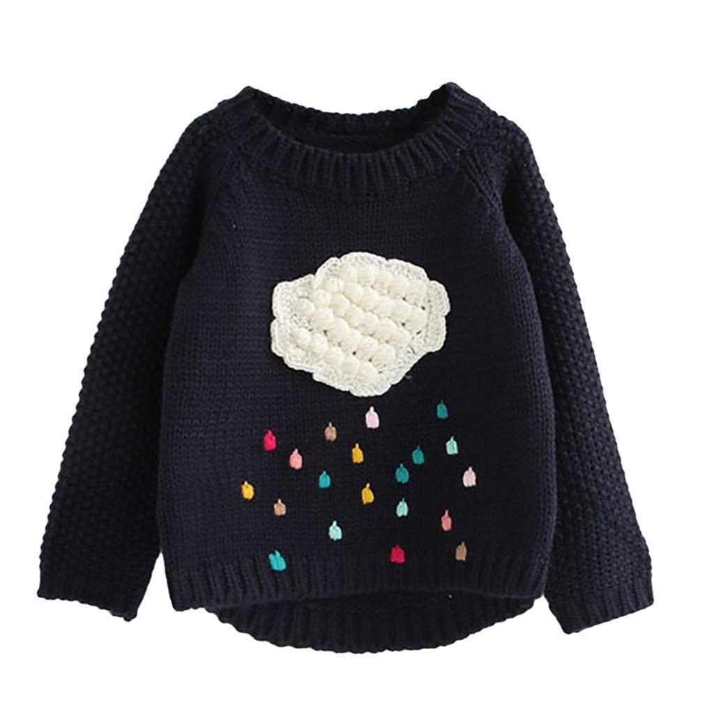 SUNNY Store Toddler Girls Sweater Knit Pullovers Baby Kids Warm Coat Outerwear Clothes