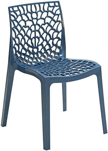 Gruyver Chaise de cuisine moderne, bleu ciel