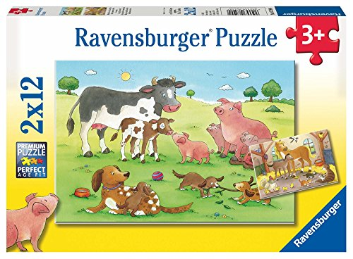 - Ravensburger Animal's Children Jigsaw Puzzle (2 x 12 Piece)