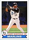 2016 Topps Archives #158 Gary Sheffield Florida Marlins Baseball Card in Protective Screwdown Display Case
