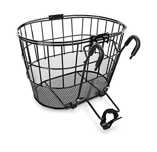 Colorbasket Mesh Bottom Lift-Off Bike Basket, Black (Basket For Mountain Bike)
