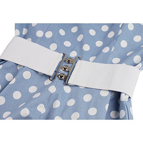 Trapecio Pinkyee Azul Vestido Mujer Para dCotsxBQhr