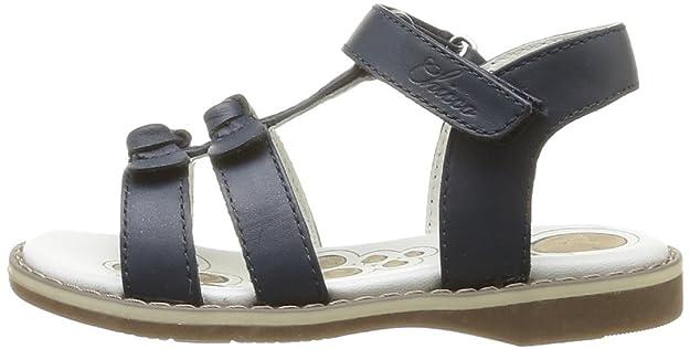 Chicco Carin 1051514000000 - Sandalias de cuero para niñas, color azul, talla 27