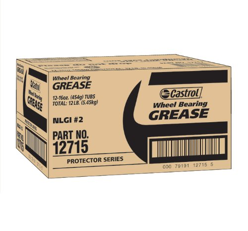 Castrol 12715-12PK Wheel Bearing Grease - 1 lb., (Pack of 12)