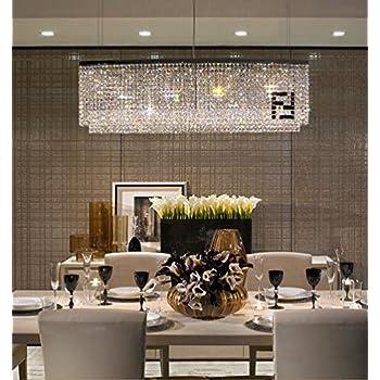 Modern Oval Rectangular Chandelier Dining Room Chandeliers