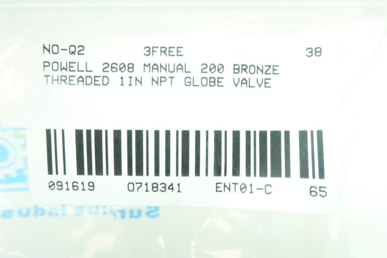 POWELL 2608 Manual 200 Bronze Globe Valve 1IN NPT