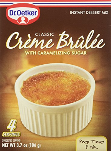 Oetker Creme Brulee, 3.7-Ounces (Pack of 12) (Dessert Oetker Dr Mix)
