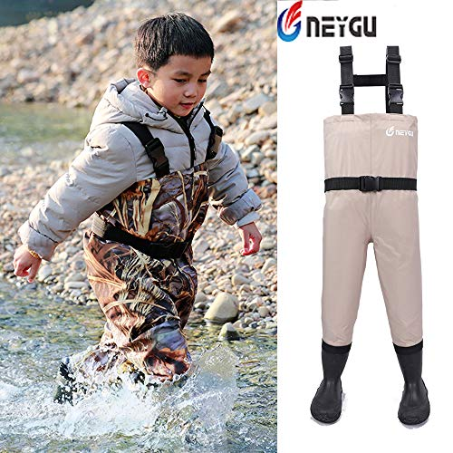 (NEYGU Toddler & Children's Breathable Waterproof Waders Bootfoot Chest Waders, 2T,)