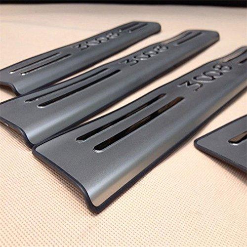 4 x Solera cromado protector bajo puerta acero Car Sport coche Peugeot 3008: Amazon.es: Electrónica