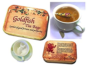 tea gift box 4 goldfish tea bag inspirational gifts for women good luck gifts for women