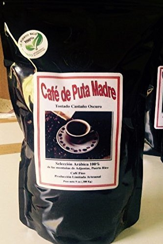 Cafe de Puta Madre - 100% Arabica Coffee Beans from Adjuntas, Puerto Rico - Limited Production Premium Quality Puerto Rican Coffee (9oz Beans)