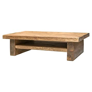 Funky Chunky Furniture Rustic Coffee Table With Shelf Made From