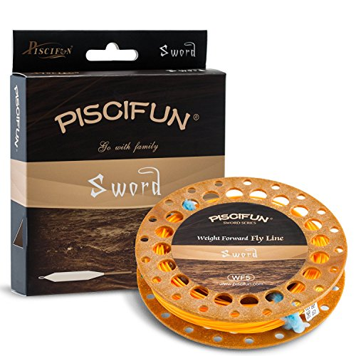 Piscifun Sword Weight Forward Floating Fly Fishing Line with Welded Loop WF3wt 90FT - Fly Sunglasses Best Fishing