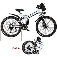 Teamyy Vélo Electrique Homme Pliant 26 Pouces Vitesses Jusqu'à 25 km/h avec Batterie Lithium-Bicyclette Pliable Vèlo Adulte