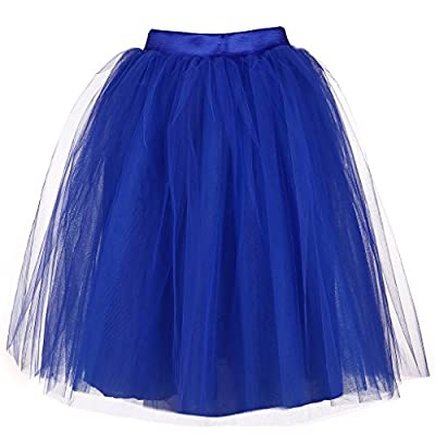AOMEI A-Line Tulle Mesh Lolita Skirts for Women