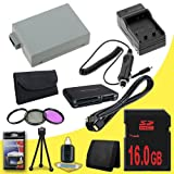 Canon EOS Rebel T2i 18 MP CMOS APS-C Digital SLR Camera (550D / Kiss x4) LP-E8 Lithium Ion Replacement Battery 1500 mAh w/External Rapid Charger + 16GB SDHC Memory Card + 3 Piece Filter Kit + Mini HDMI + USB SD Memory Card Reader /Wallet + Deluxe Starter